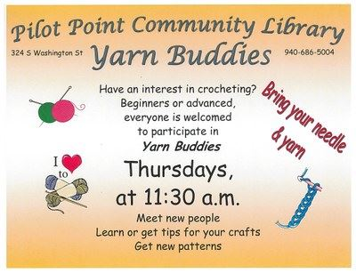 Yarn Buddies Flyer
