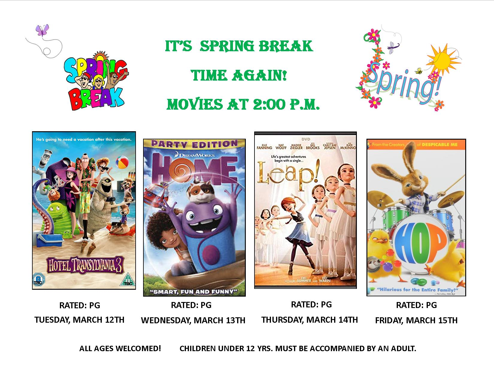 Spring Break Movies 2019