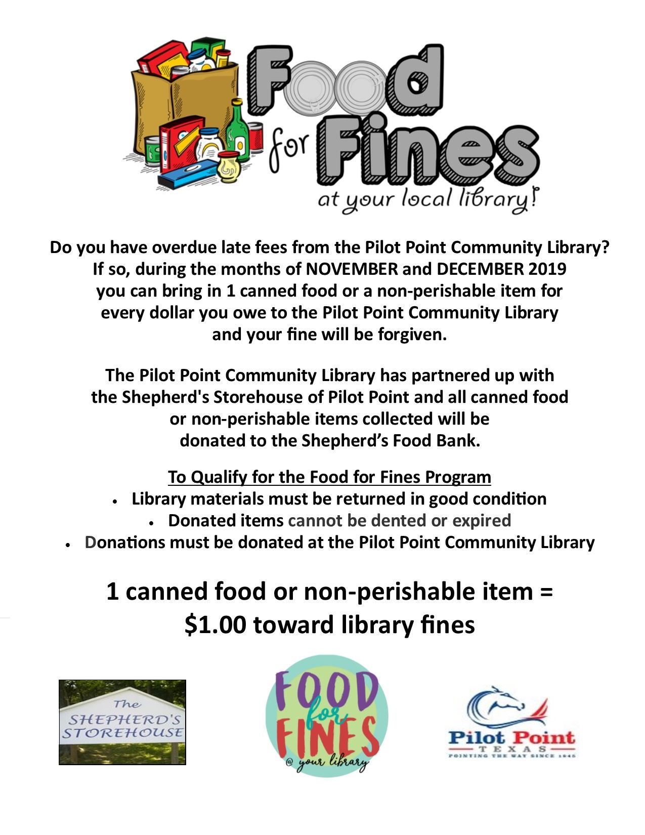 Food for Fines 2019