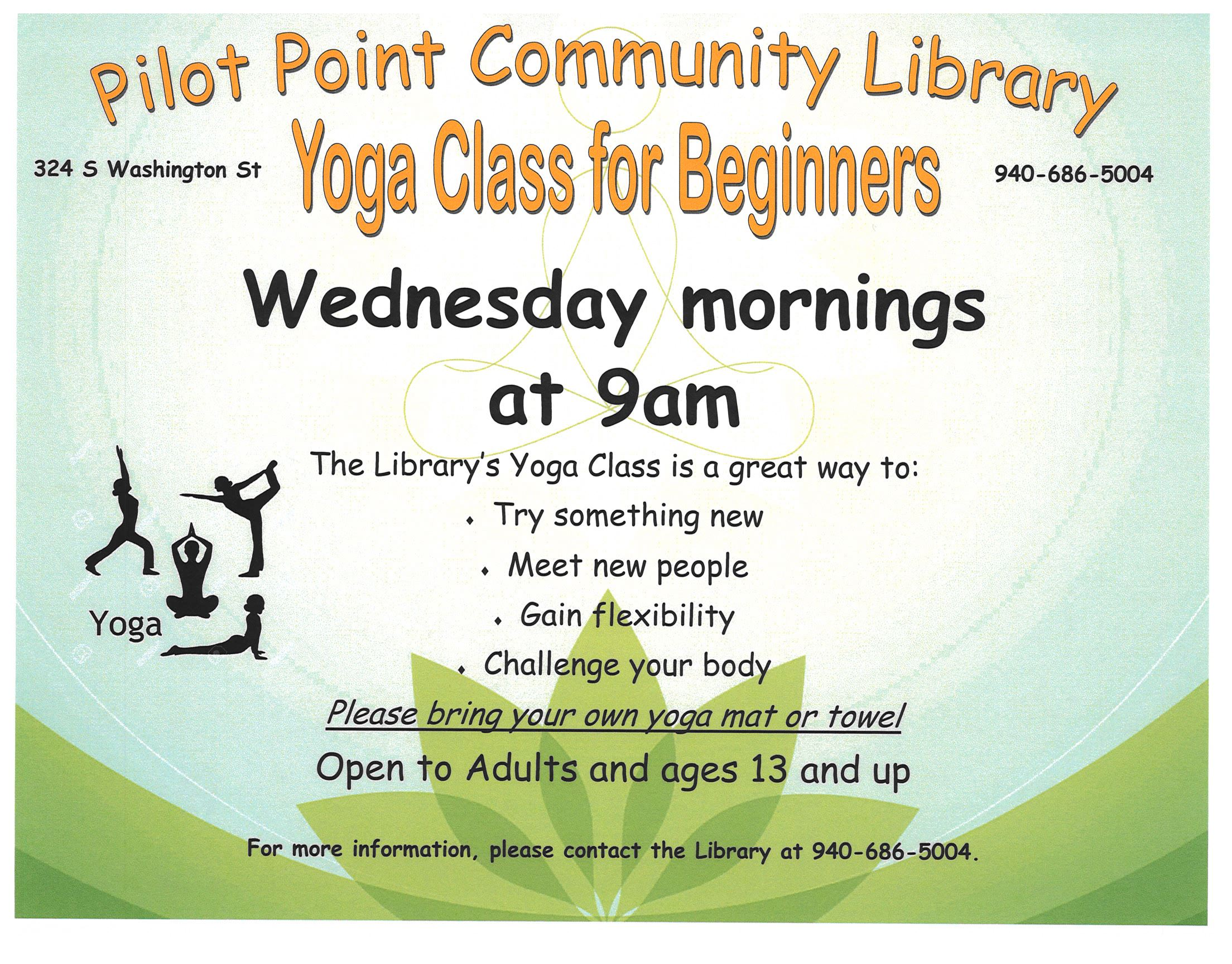 Wednesday Yoga Flier